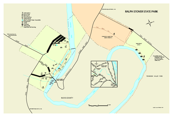 Ralph Stover State Park map