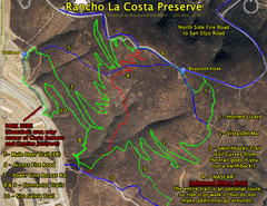 Rancho La Costa Preserve Trail Maps Map