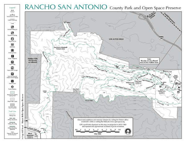 Rancho San Antonio Open Space Preserve Map