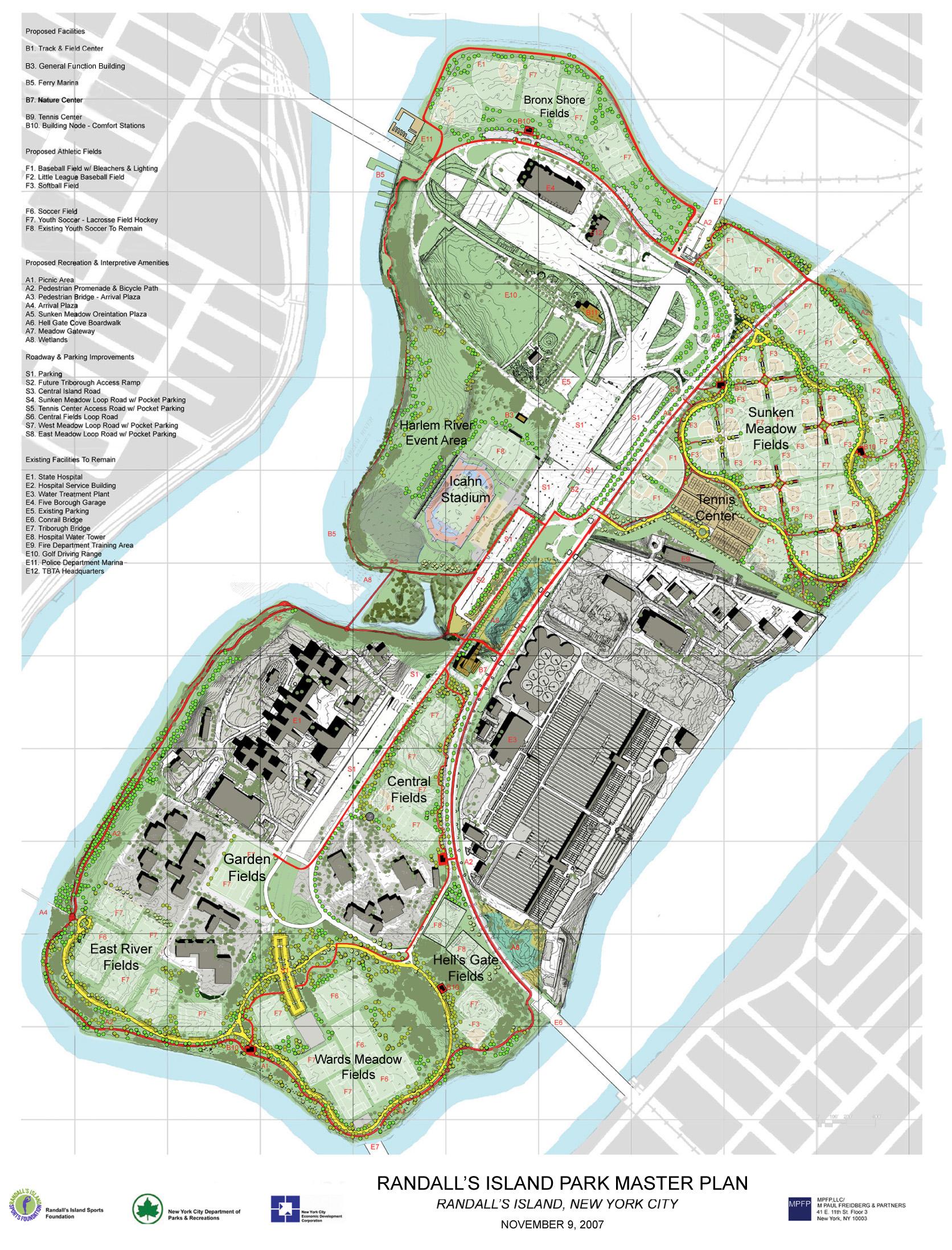 Map Randall S Island Field