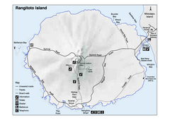 Rangitoto Island Map
