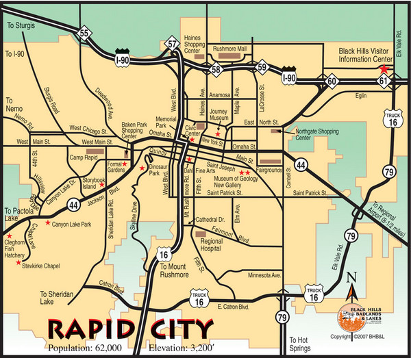 Map Of Rapid City Sd Rtlbreakfastclub