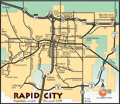 Rapid City, South Dakota City Map