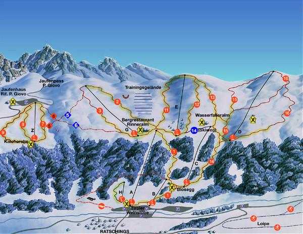 Ratschings Racines Ski Trail Map Racines TrentinoAlto Adige