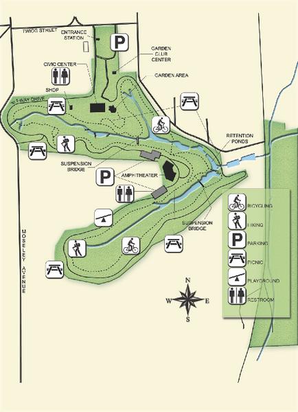 Palatka Florida Map.Ravine Gardens State Park Map 1600 Twigg Street Palatka Florida