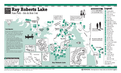 Ray Roberts Lake - Isle du Boise Park, Texas State Park Facility and Trail Map