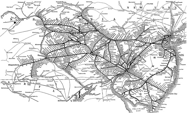Reading Railroad System Map