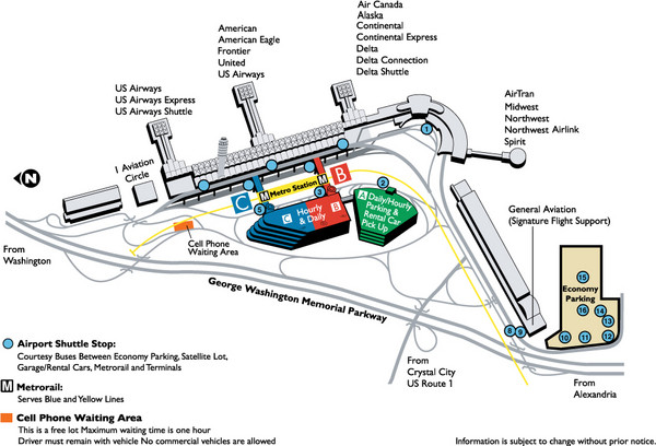 Reagan National Airport DCA Map