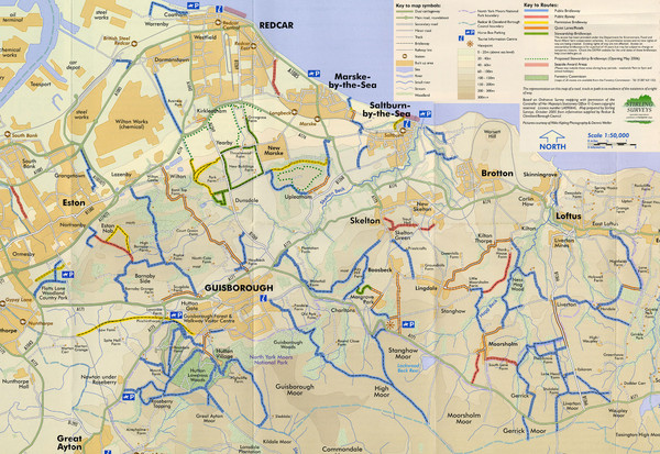 Redcar & Cleveland Horse Riding Routes Map