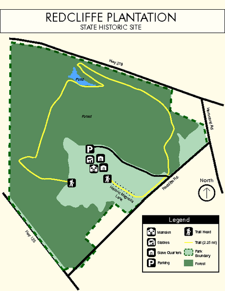 Redcliffe Plantation State Park Map