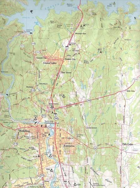Redding California City Map Redding California USA mappery
