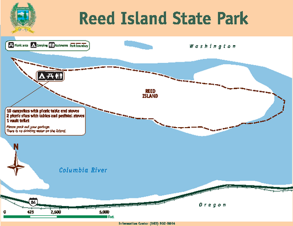 Reed Island State Park Map