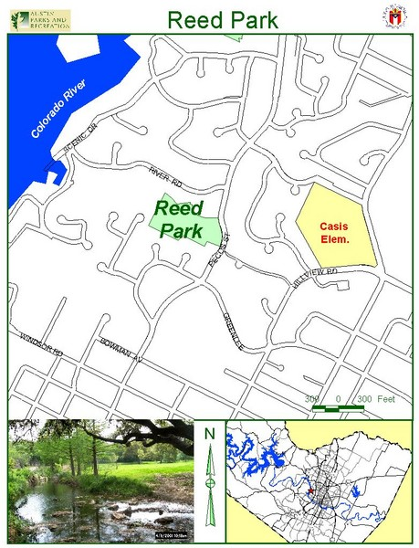 Reed Park Map 2600 Pecos St Austin Mappery