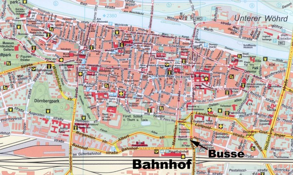 Regensburg Tourist Map   Regensburg Germany • mappery