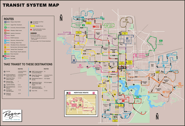 Regina Transit Map Regina Saskatchewan mappery