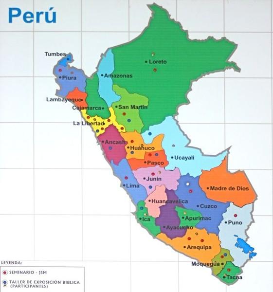 Peru tourist map mappery regions of peru map sciox Gallery