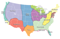 Regions of the United States Map