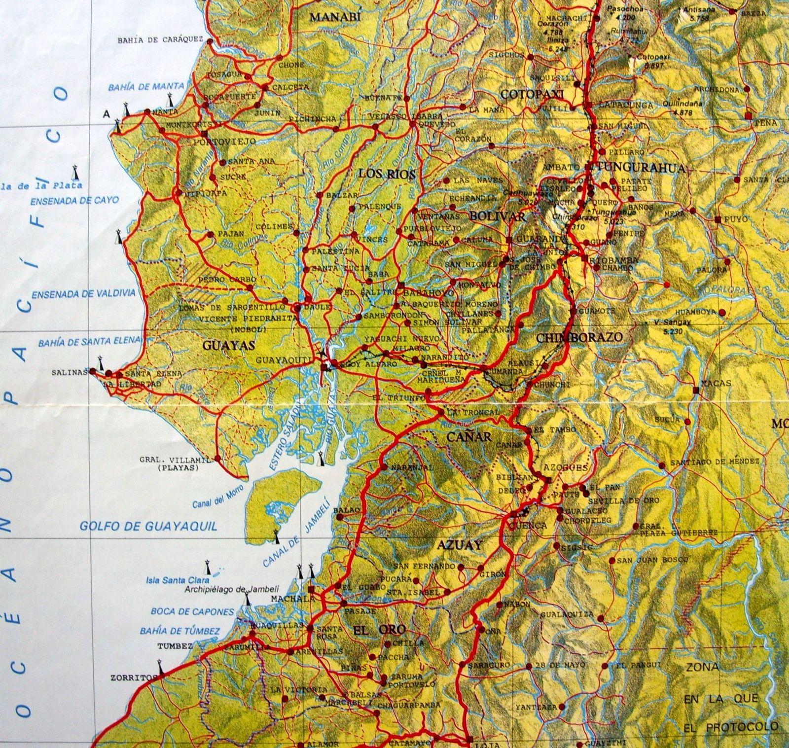 Relieve del Ecuador Map Guayaquil Ecuador mappery