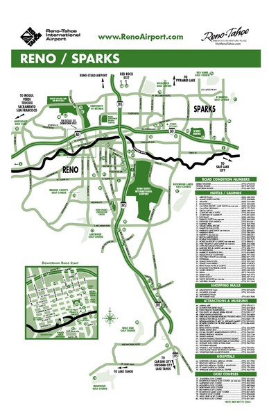 Reno Tahoe Tourist Map