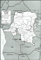 Republic of the Congo 1964 Military Map