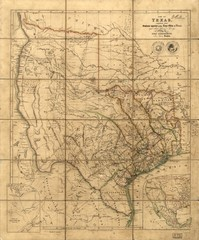 Republic of Texas Map 1841