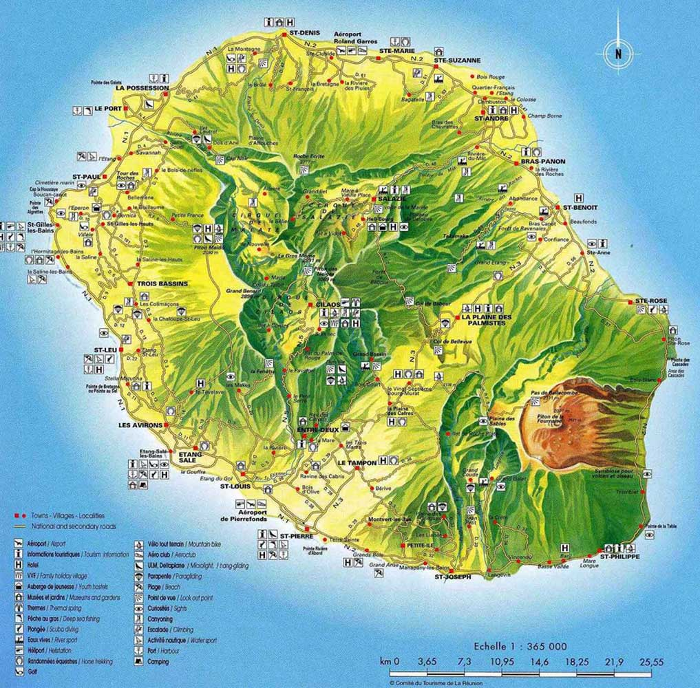 Reunion Reunion  City new picture : Reunion Island Map Reunion • mappery