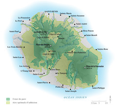 Reunion National Parks Map