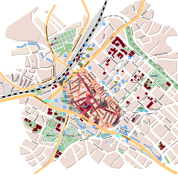 Reutlingen Tourist Map