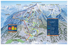 Revelstoke Ski Trail Map - Front side