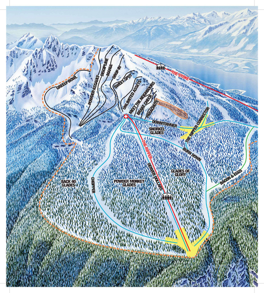 Revelstoke Ski Trail Map - North Bowl