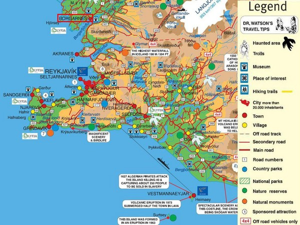 Iceland maps mappery – Map Of Iceland Tourist Attractions
