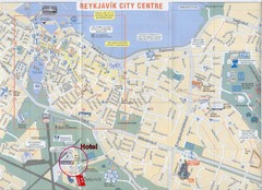 Reykjavik Center Map
