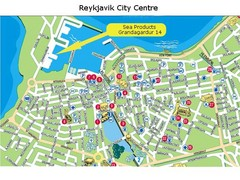 Reykjavik City Centre Tourist Map