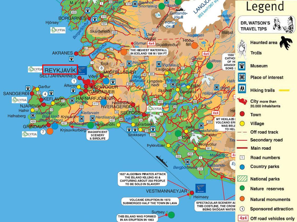 Borgarnes Iceland  city pictures gallery : Reykjavik, Iceland Tourist Map See map details From dismanibus156 ...