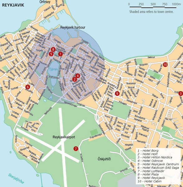 Reykjavik Tourist Map Reykjavik Iceland mappery – Iceland Tourist Attractions Map