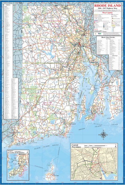 Rhode Island Map Of State