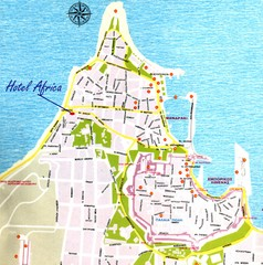 Rhodes City Map