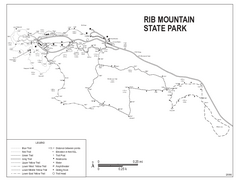 Rib Mountain State Park Map