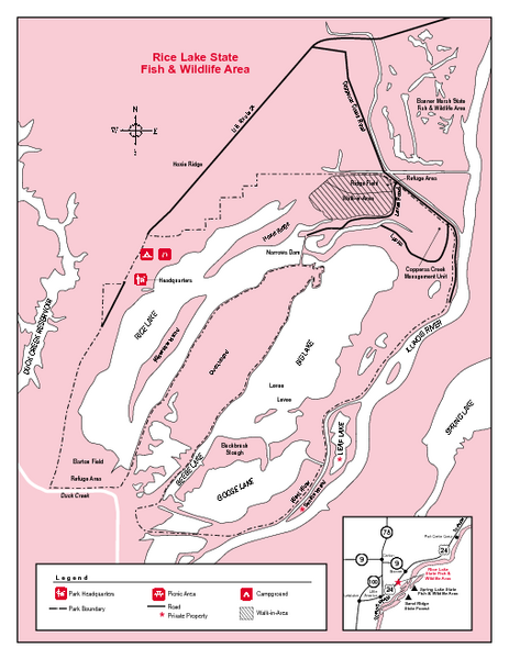 Rice Lake, Illinois Site Map