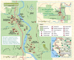Richardson Grove State Park Map