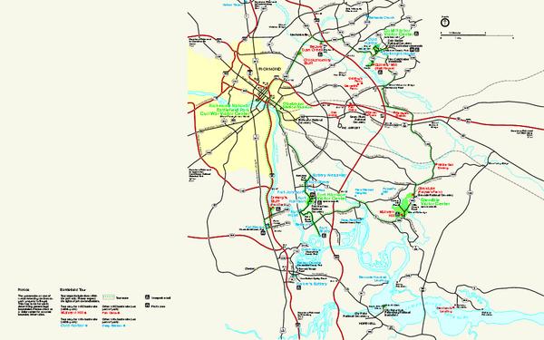 Richmond National Battlefield Park Official Map Richmond National