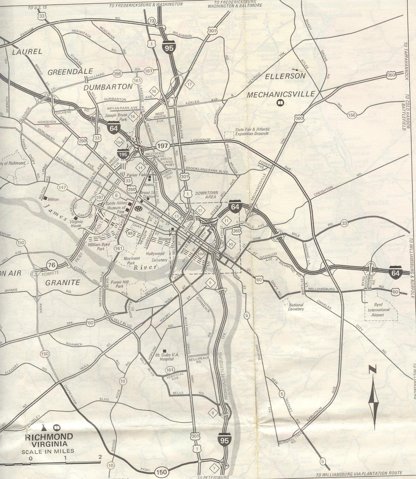 Richmond Virgina City Map  Richmond Virginia  Mappery