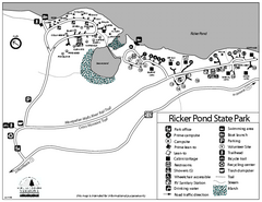 Ricker Pond State Park Campground Map