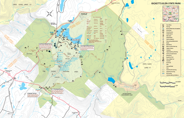 Ricketts Glen State Park map