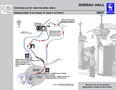 Rideau Hall Tour Bus Parking Map