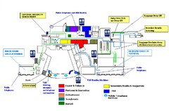 Riena Beatrix International Airport Map