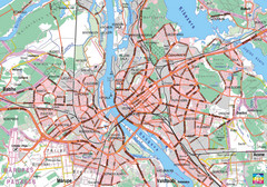 Riga City Map