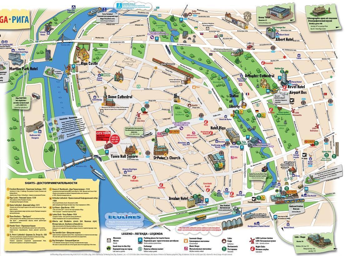 Map Touristic Panama – Panama Tourist Attractions Map