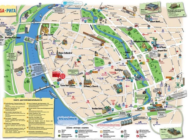 real life map collection mappery – Seattle Tourist Map