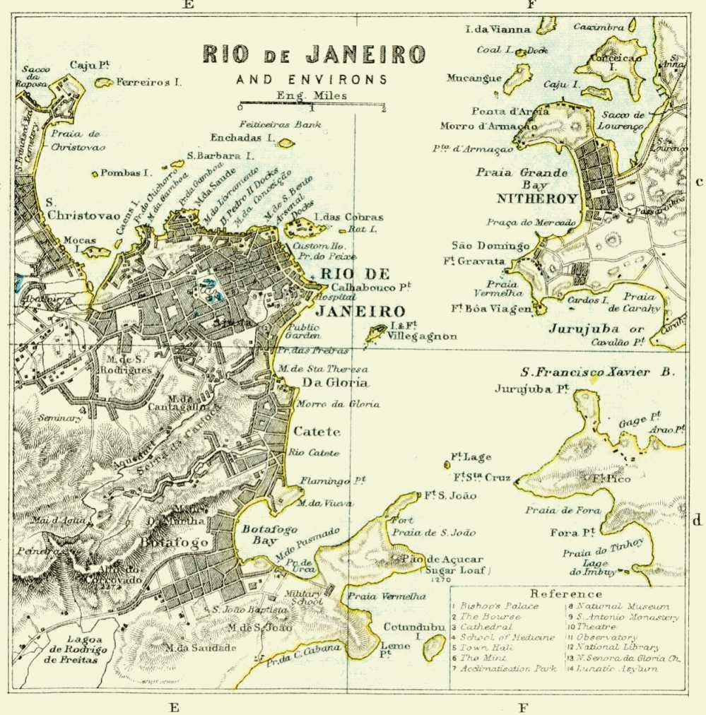 Rio De Janeiro Historical Map Rio De Janeiro Brazil Mappery - Rio de janeiro map